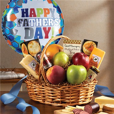 Father's Day fruit and gourmet basket
